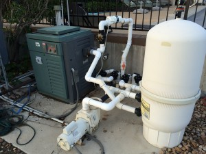 Residential pool pump setup